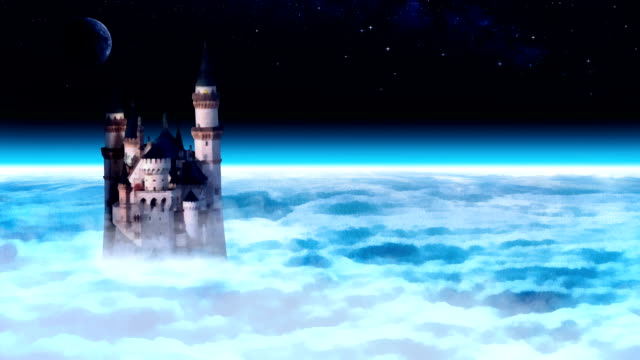 Castle tower in the sky. video
