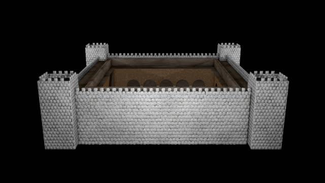 castle tur tabell - ancient white background bildbanksvideor och videomaterial från bakom kulisserna