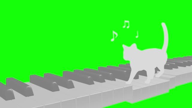 Cat silhouette Piano walk rhythm riding tempo 80 2 beats loop pattern B