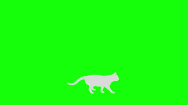 Cat silhouette walk loop pattern B