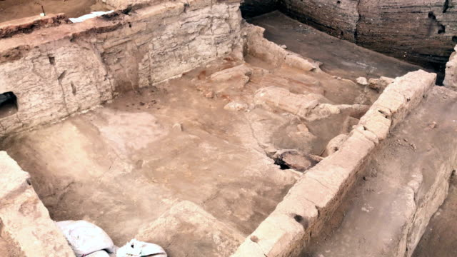 Catalhoyuk in Konya Çatalhöyük was a very large Neolithic and Chalcolithic proto-city settlement in southern Anatolia, which existed from approximately 7500 BC to 5700 BC, and flourished around 7000 BC.[1] In July 2012, it was inscribed as a UNESCO World Heritage Site. archaeology stock videos & royalty-free footage