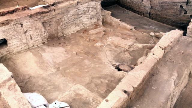 catalhoyuk in konya - archeologia video stock e b–roll