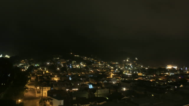 Catalina Island - City of Avalon at night - 4k Time lapse video