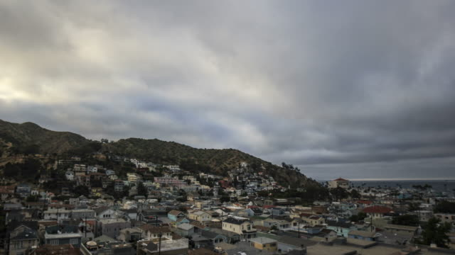 Catalina Island town of Avalon, CA day to night time lapse in 4k resolution video