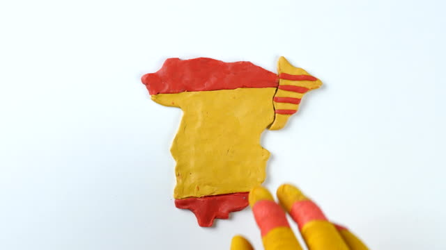 Catalonian hands separated Catalonia from Spain video