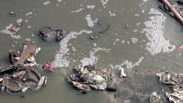 catastrophic water pollution in asia Katmandu city, Nepal. video