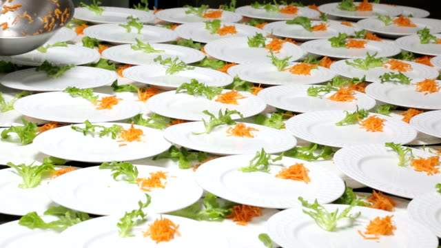 Catering food preparation. video