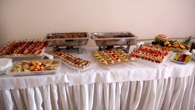 Catering food table video
