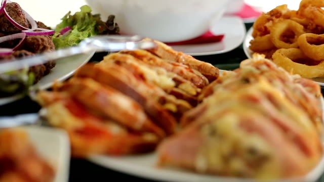 Catering food video