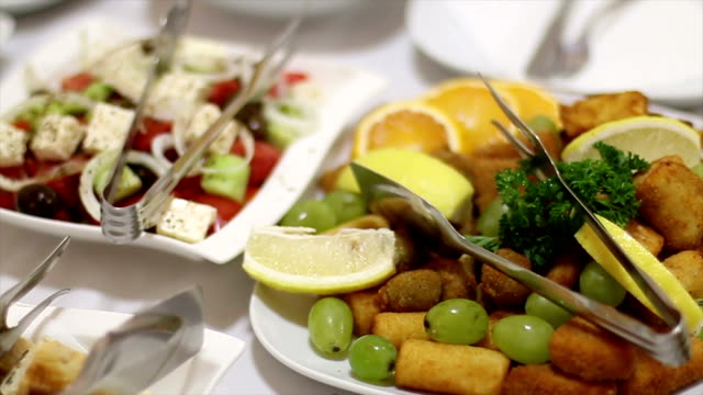 Catering Food Catering Food tomato salad stock videos & royalty-free footage