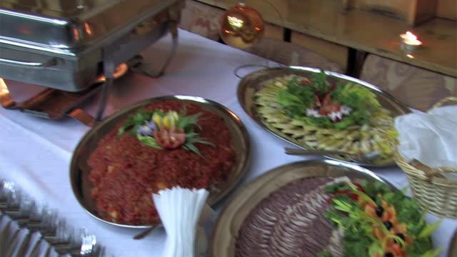 di catering - buffet video stock e b–roll