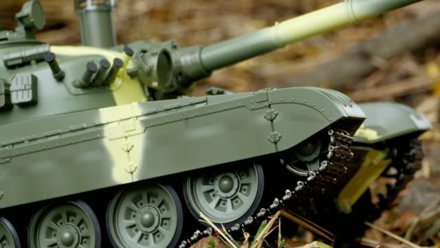 caterpillars of a battle tank