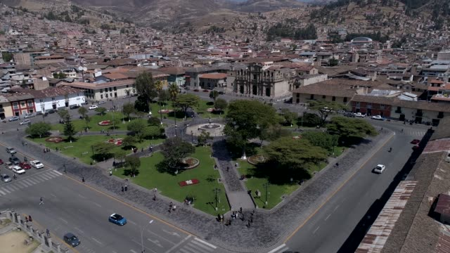 Cathedral church and main square of Cajamarca, Peru