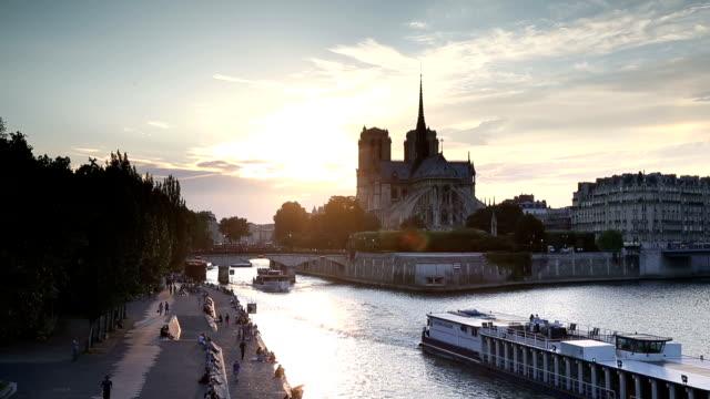 VDO :cathedral Notre Dame de Paris in Paris, France. video