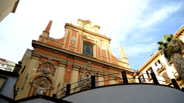 Cathedral of Assumption of Mary details, main church of Naples, southern Italy video