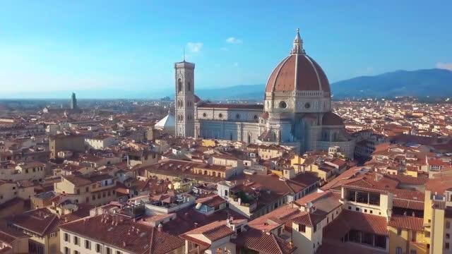 cattedrale di santa maria del fiore all'alba, italia - milan fiorentina video stock e b–roll
