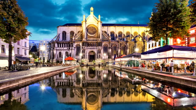 Cathedral of Sainte Catherine in Brussels video