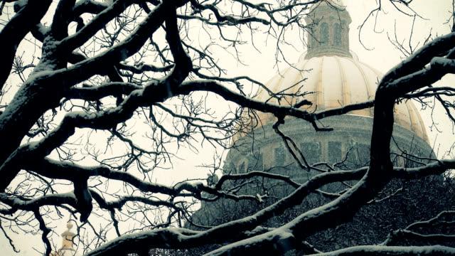 cattedrale - san pietroburgo russia video stock e b–roll