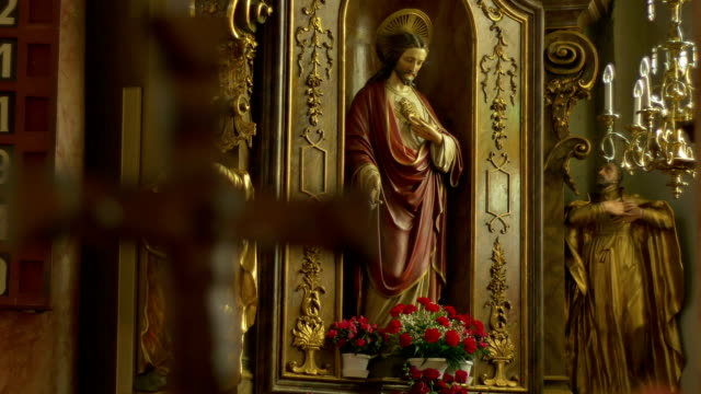 Catholic Jesus Statue and Crucifix video