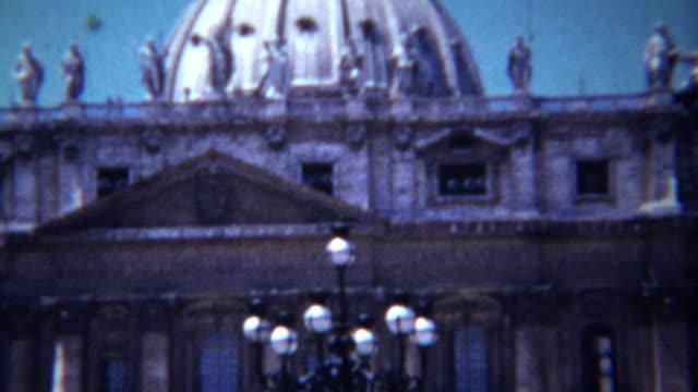 1954: Catholic Vatican City enclave Michelangelo's dome building. video