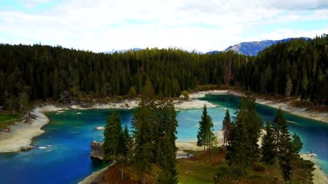 caumasee lake in switzerland video