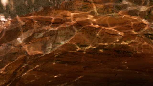 Caustic light reflections on sandstone Caustic light reflections on walls of a sandstone cave caustic light effect stock videos & royalty-free footage