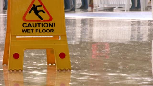 Caution wet floor video