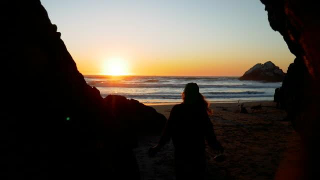 Cave Opening at Ocean Beach, San Francisco, California USA