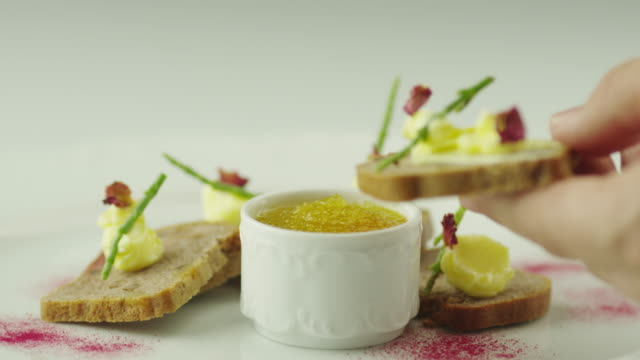 Caviar Snacks with Bread video
