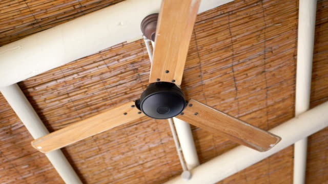 Ceiling Fan Turning Slowly in slow motion 180fps