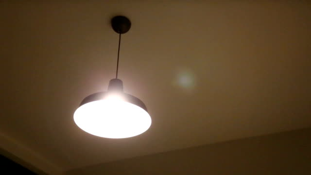 Ceiling lamps. Ceiling lamps under voltage. abandoned stock videos & royalty-free footage