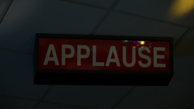 Ceiling Mounted Illuminated Applause Sign Flashing video