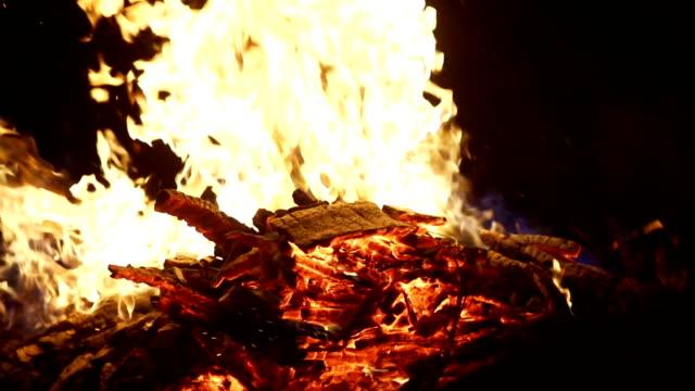 celebrating new year with wood burning video