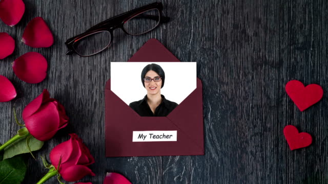 4K Celebrating Teachers Day with Greeting Card