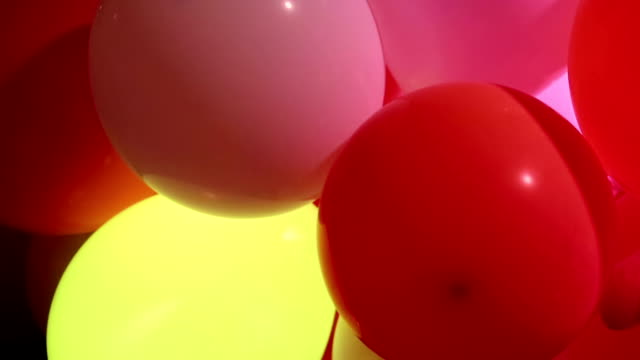 Celebration balloons and flashing lights video