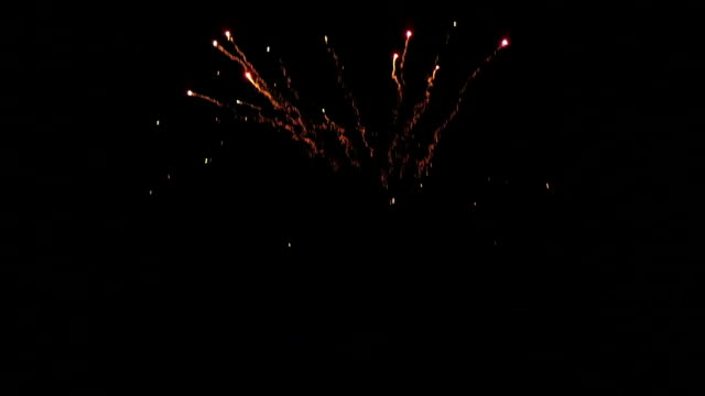 celebration new years eve with firework on the night sky video