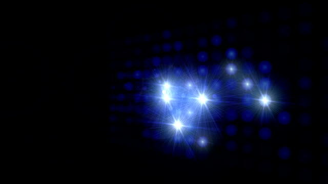 Celebrity Blue Spotlights - Loop video
