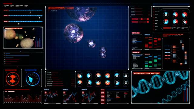 hücre bölünmesi, genetik, dijital ekranda uzaktan sağlık. 4k. 1. - biyomedikal animasyonu stok videoları ve detay görüntü çekimi