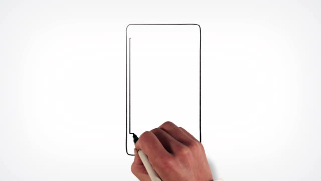 Téléphone cellulaire tableau blanc de Stop-Motion Animation de Style - Vidéo