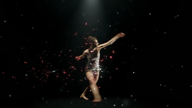 cellist and dancer with petals dance part 3 video