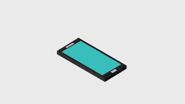 cellphone sliding 3d icons video