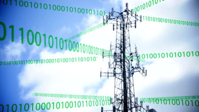 Cellular Tower Transmitting Data video