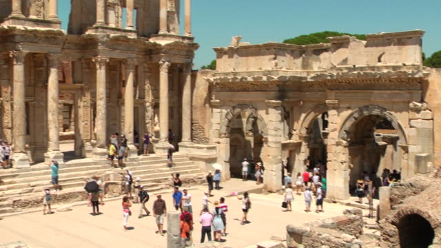 Celsus Library in Ephesus (Efes) - ancient city, Turkey video