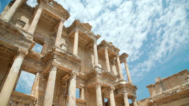 塞爾蘇斯圖書館在以弗所。efes 古希臘城市在今天伊茲密爾, 土耳其 - 土耳其 個影片檔及 b 捲影像