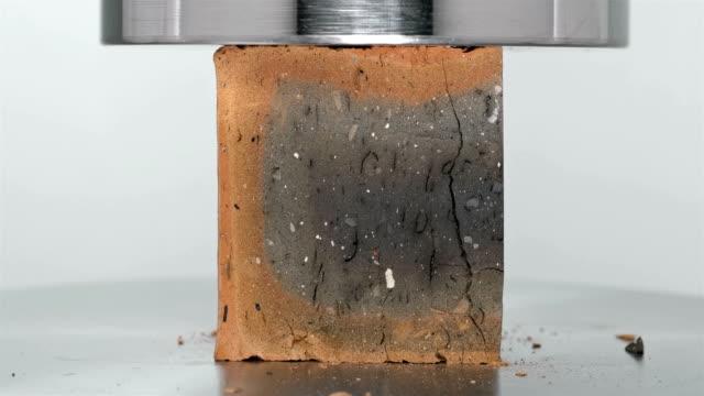 cement block under hydraulic press video