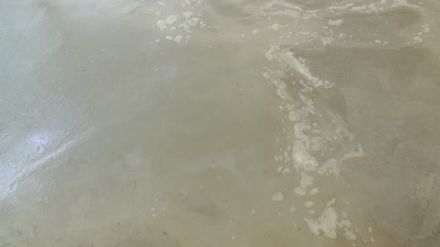 cement flooring, Time-lapse wet to dry video