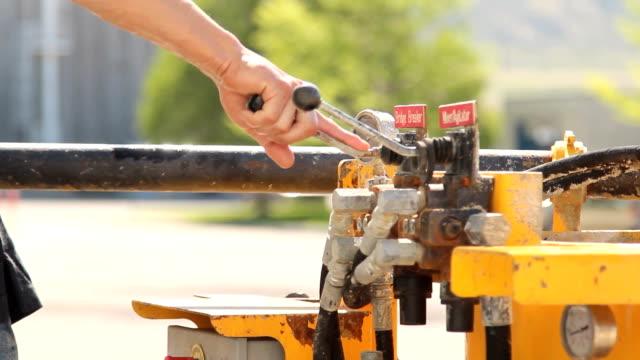 betoniera controlli - leva video stock e b–roll