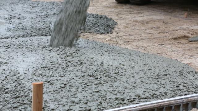 цементный наливать - бетон стоковые видео и кадры b-roll