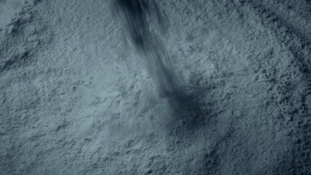 Cement Powder Pours Into Pile Cement powder pours into pile closeup shot cement stock videos & royalty-free footage