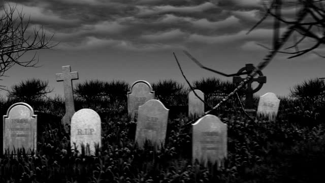 Cemetery Zombie - vintage movie.